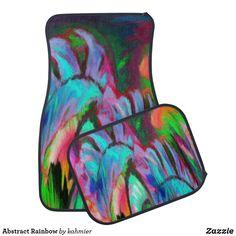 Abstract Rainbow Car