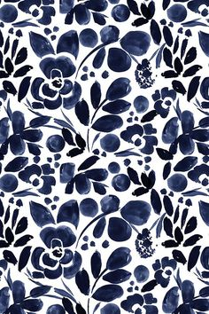 Beautiful hand painted watercolor floral pattern in navy on fabric, wallpaper, and gift wrap. Beautiful hand painted watercolor floral pattern in navy on fabric, wallpaper, and gift wrap. Watercolor Wallpaper, Flower Wallpaper, Watercolor Flowers, Fabric Wallpaper, Watercolor Pattern, Floral Watercolor Background, Painting Flowers, Navy Wallpaper, Watercolor On Fabric