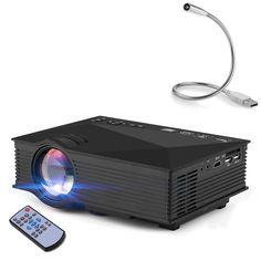 Mini WiFi Projector, Yokkao LED Projector Mini Digital LCD 1080P HD WiFi Home Theater Projector Supports 1200 Lumens IR/ AV/ HDMI/ USB/ SD/ VGA Input