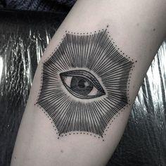 """184 Likes, 3 Comments - Ville Prinsen (@villeprinsen) on Instagram: """"Ditch from today. Swollen and fleshy. #villeprinsen #tattoo #tatuering #eye #halo #thirdeye…"""""""
