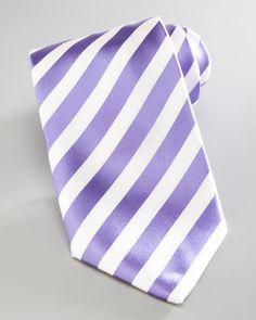 Nautical-Stripe Silk Tie, Lavender by Brioni at Neiman Marcus.