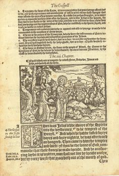 1552 Tyndale Illustrated New Testament : Jesus Tempted by Satan