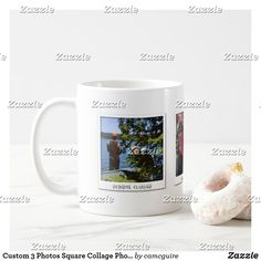 Shop Custom 3 Photos Square Collage Photo Coffee Mug created by camcguire. Personalize it with photos & text or purchase as is! Holiday Cards, Christmas Cards, Collage Photo, Customizable Gifts, Elephant Gifts, Business Supplies, Photo Mugs, Coffee Mugs, Monogram
