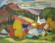 Fall in the Townships by Paul Soulikias, a Greek-Canadian artist (b. 1926 -    )
