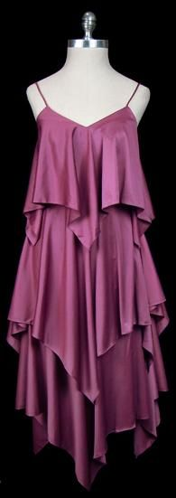 Dress, Halston, 1970's . With gold disco heels, lashings of lip gloss and hair fresh out of the hot rollers.