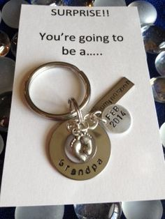 Expecting Baby Announcement Key Chain - <3 It would have been so cool to give when I was expecting...not gonna happen now - but what a cute gift!!
