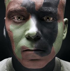 How to properly wear camo face paint like the yanks... ie. If you are not going to be sweating... (sweat will make cam cream run down and into your eyes and make you less effective... at why you are in the trees for to start with...)