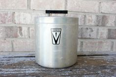 cookies brushed aluminum canister
