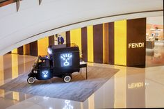 The classic Italian truck gets a Fendi Faces makeover! Check out the latest accessories and Strap You collections at our boutique in Shenyang in China.