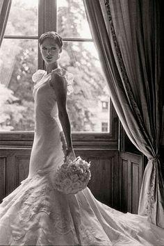 Les mannequins en blanc Coco Rocha mariage robe de mariée