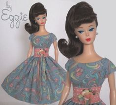Barbie Doll Dress Reproduction Repro Barbie Clothes by Eggie! This Mother & Daughter team create amazing vintage dresses on eBay... http://www.ebay.com/usr/fanfare1901