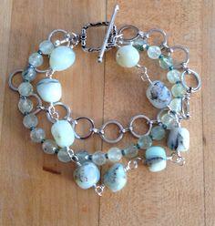 Farb- und Stilberatung mit www.farben-reich.com - Rutilated Green Quartz Bracelet on Etsy, $35.00