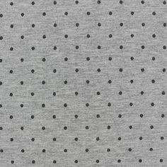 Tissu Jersey Pois glitter 3mm - noir x 10 cm
