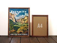 ビンテージポスター A3サイズ(複製)-1945 Yosemite(ヨセミテ国立公園)- United Airlines