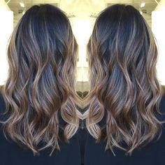 light+brown+balayage+for+black+hair
