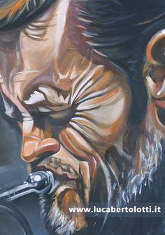 Chet Baker | acrilico su tela  cm 80x80 | particolare