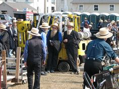Amish men at a mud sale in Lancaster, PA by LancasterPA.com, via Flickr