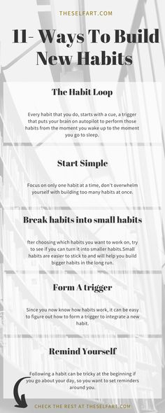 How to build habits to become succesful all year and work on acheiving goals.