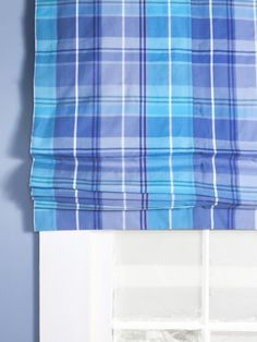 Azure: Summer-Perfect Plaid Shade - New Ways to Decorate With Shades of Blue on HGTV