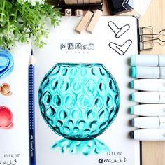 """Е.В.А. рисунки и скетчи (@eva_a_r_t) sur Instagram : """"Когда начинала рисовать эту вазу, думала не получится, хотела бросить ... В общем, не бросайте‼️на…"""""""