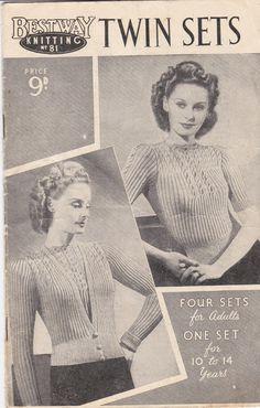 Vintage 1940s  Bestway Knitting Pattern No 81 by jennylouvintage