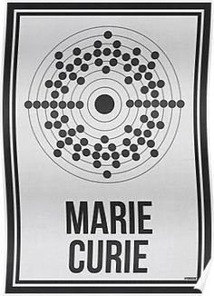 MARIE CURIE - Women in Science Wall Art Poster