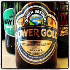 Gower Brewery Gower Gold - 4.5% ABV - a refreshing golden ale with cascade hops and citrus flavours