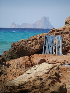 View from Formentera to the island of Es Vedra, Ibiza. Photo Fleur Walters