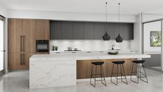 Open plan kitchen & scullery - Parramatta, NSW Discover examples of Dan Kitchens projects including Modern Kitchen Designs in Sydney and get inspired for a new Luxury Kitchen Renovation of your own. Kitchen Design Open, Contemporary Kitchen Design, Best Kitchen Designs, Open Plan Kitchen, Interior Design Kitchen, Modern Interior Design, Home Design, Design Ideas, Contemporary Decor