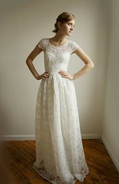 Cotton Wedding Dress.