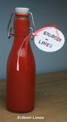 mein i tüpfelchen: Erdbeer Limes   500 g gewaschene und gerupfte #Erdbeeren 175 g Zucker 150 ml Wasser 175 g #Zitronensaft (frisch gepresst) 230 ml #Wodka