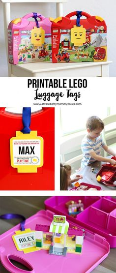 Print out these cute Printable LEGO Luggage Gift Tags for a cute and fun gift!