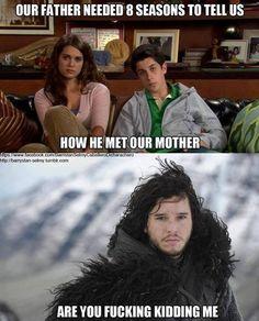 Aww, poor Jon Snow.
