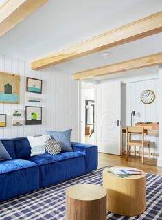 7 Things to Consider When Designing a Big Kids Playroom - Couch too loud/bright for me. Sofa back too low for tall people too. Playroom Design, Playroom Decor, Playroom Ideas, Kid Playroom, Blue Playroom, Kids Playroom Furniture, Bedroom Decor, Basement Ideas, Kids Decor