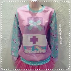 Items similar to Medical Sweater, Pill Bottle Sweater, Sweater, Kawaii Sweater, Pastel Sweater on Etsy Harajuku Fashion, Kawaii Fashion, Cute Fashion, Pastel Grunge, Pastel Goth, Visual Kei, Sweater Pilling, Kawaii Sweater, Pastel Outfit