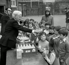 Free school milk...yuk ! It was always warm and sometimes even gone off...