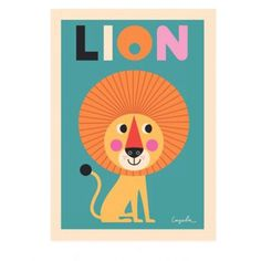 affiche Lion Ingela P. Arrhenius - Deco Graphic