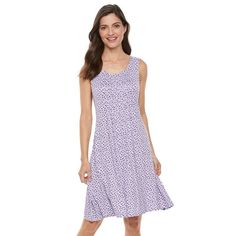 Women's Croft & Barrow® Pintuck Fit & Flare Dress,