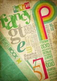 Typography Inspiration #typography #brightcolors #fancy #fonts