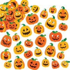 64 Asst Self Adhesive Printed Pumpkin Faces Foam Shapes Halloween Arts And Crafts, Halloween Treats For Kids, Halloween Toys, Arts And Crafts Projects, Arts And Crafts Supplies, Crafts For Kids, Mousse, Foam Shapes, Foam Pumpkins