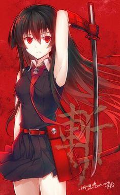 Anime Girls: Anime Girl: Akame - Akame Ga Kill !