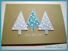 Karos Kreativ Kram: Weihnachtskarten Kreationen vom Workshop