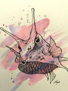 #illustration #artist #art #drawing #artwork #animal #fish #sketch #イラスト #アート