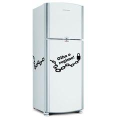 Adesivo para geladeira Olha o regime. 2 partes totalizando 52cm x30cm cada lado em média