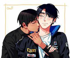 on Ice - Phichit Chulanont x Seung-Gil Lee - Seungchuchu Anime Guys, Manga Anime, Anime Art, Yuri!!! On Ice, Anime Witch, Yuri Katsuki, Sweet Stories, Sasunaru, My Spirit Animal