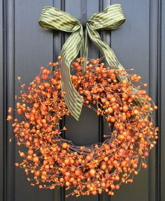 Genial Fall Wreath The Pumpkin Wreath For Autumn Decor By Two Inspire You Eclectic  Holiday Outdoor Decorations