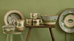 Nicholas Mosse 'Landscape' and 'Assorted Animals' pottery ~ have the bowl on right and the sheep mugs ( ;