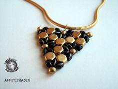 by Akke Jonkhof Honeycomb and superduo pendant or earrings