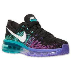Nike Flyknit Air Max Womens blue black