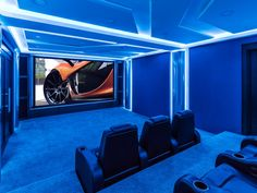 Great use of LED lighting in Home Theater